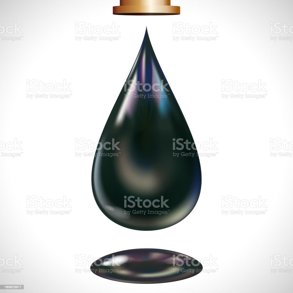 Vector large oil droplet. royalty-free stock vector art