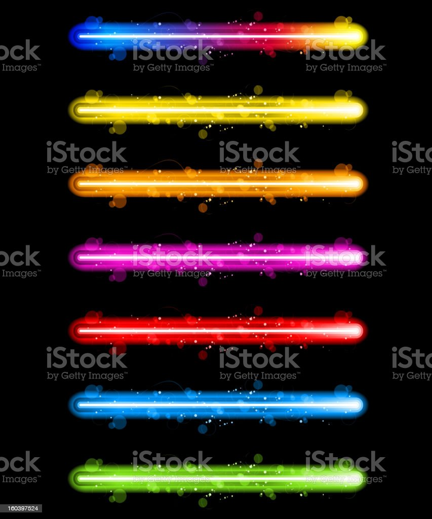 Vector - Laser Neon Colorful Lights royalty-free stock vector art