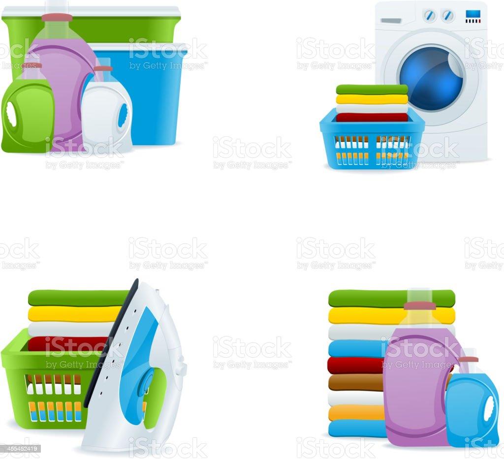 Vector Laundry vector art illustration