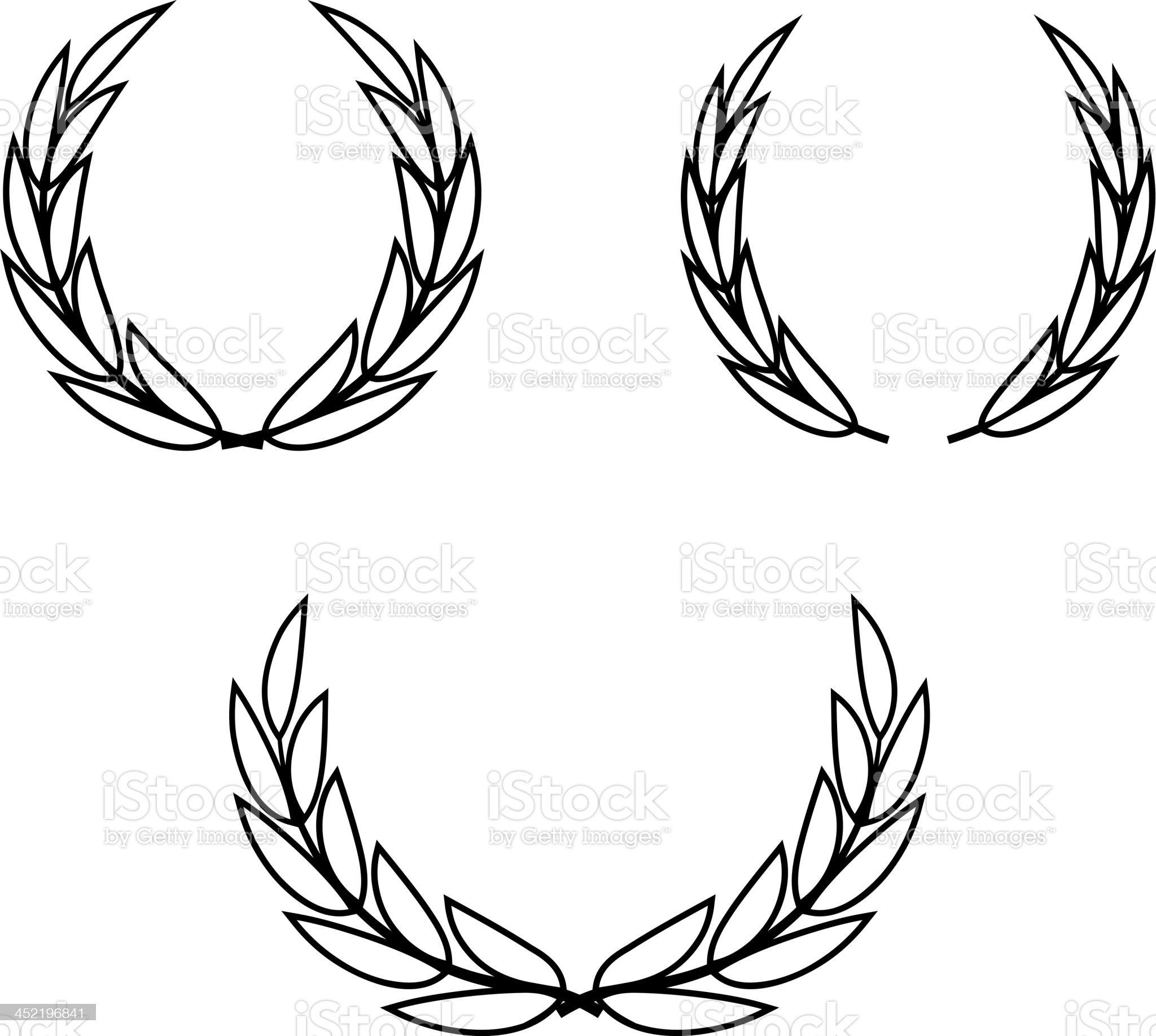 Vector laurel wreaths royalty-free stock vector art