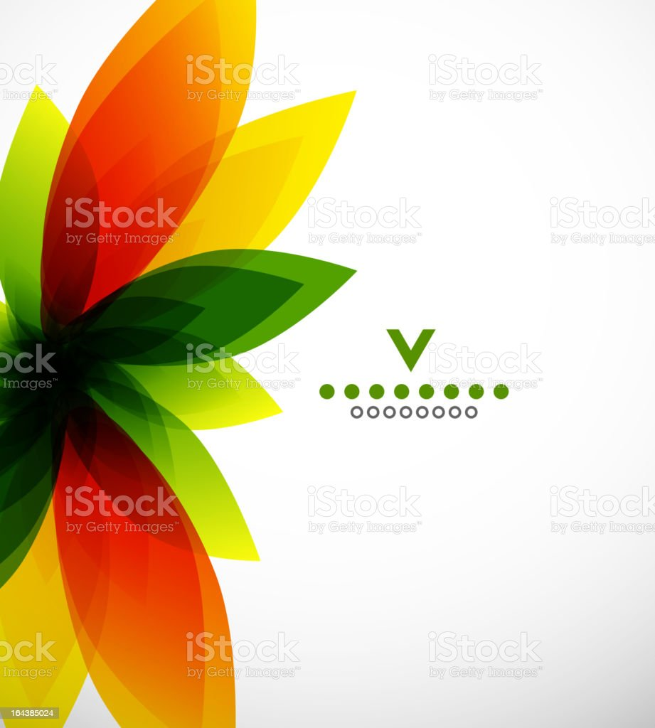 Vector leaves background royalty-free stock vector art