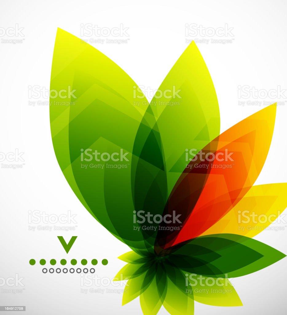 Vector leaves background vector art illustration