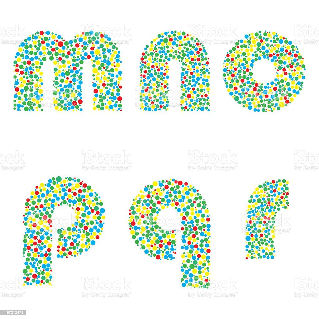 Vector letters royalty-free stock vector art
