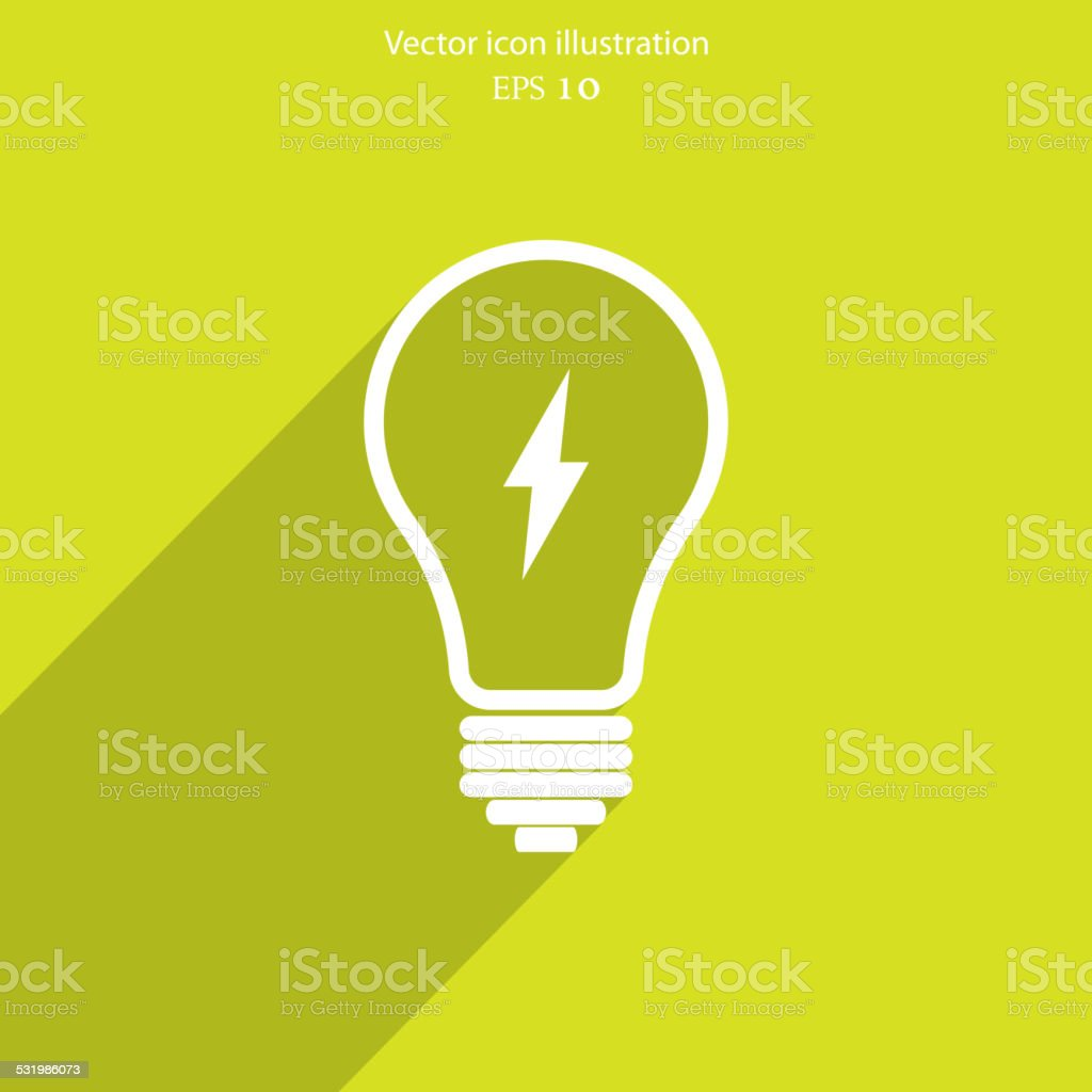 Vector Light bulb icon vector art illustration