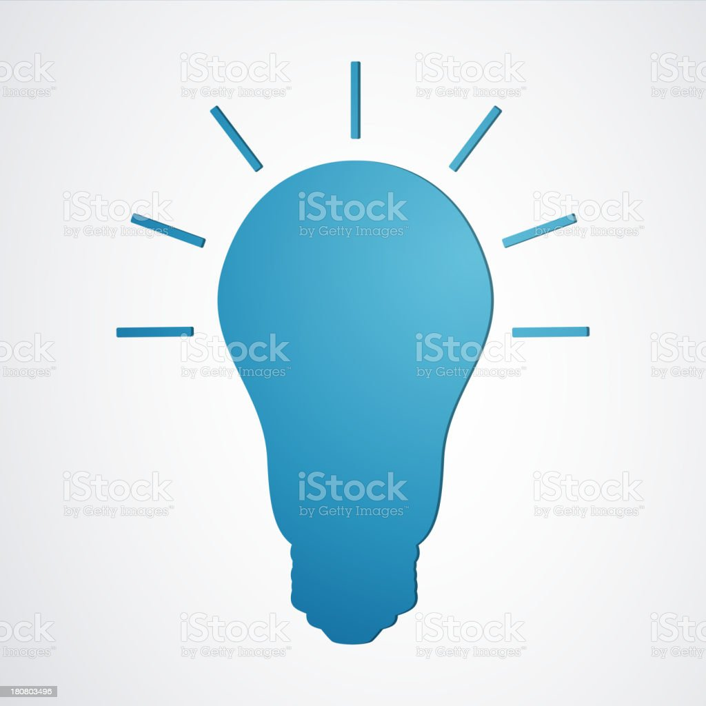 Vector Light Bulb royalty-free stock vector art
