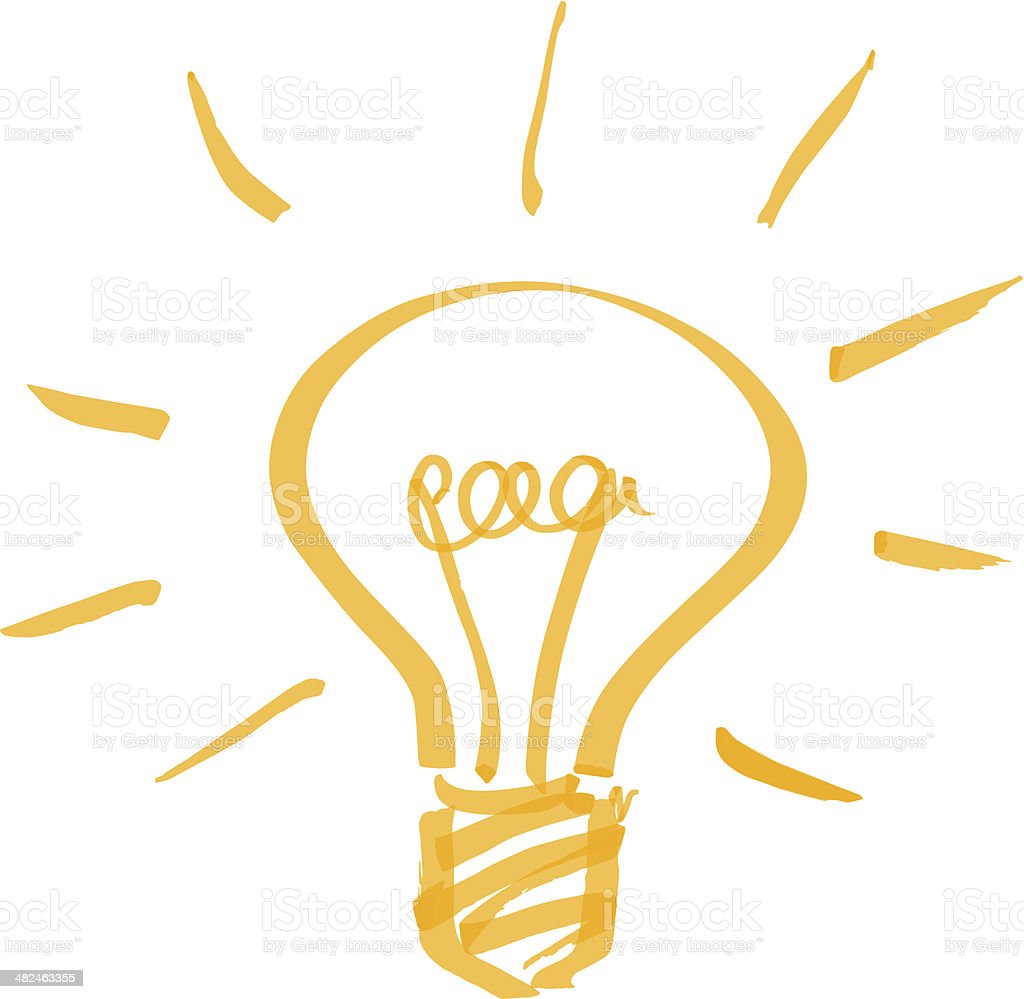 vector light bulb vector art illustration