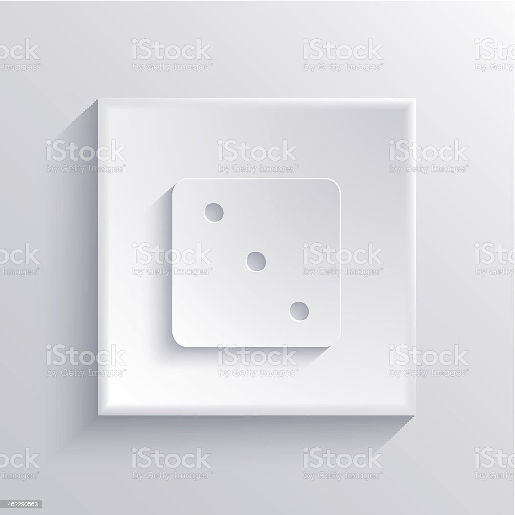 Vector light square icon. Eps 10 royalty-free stock vector art