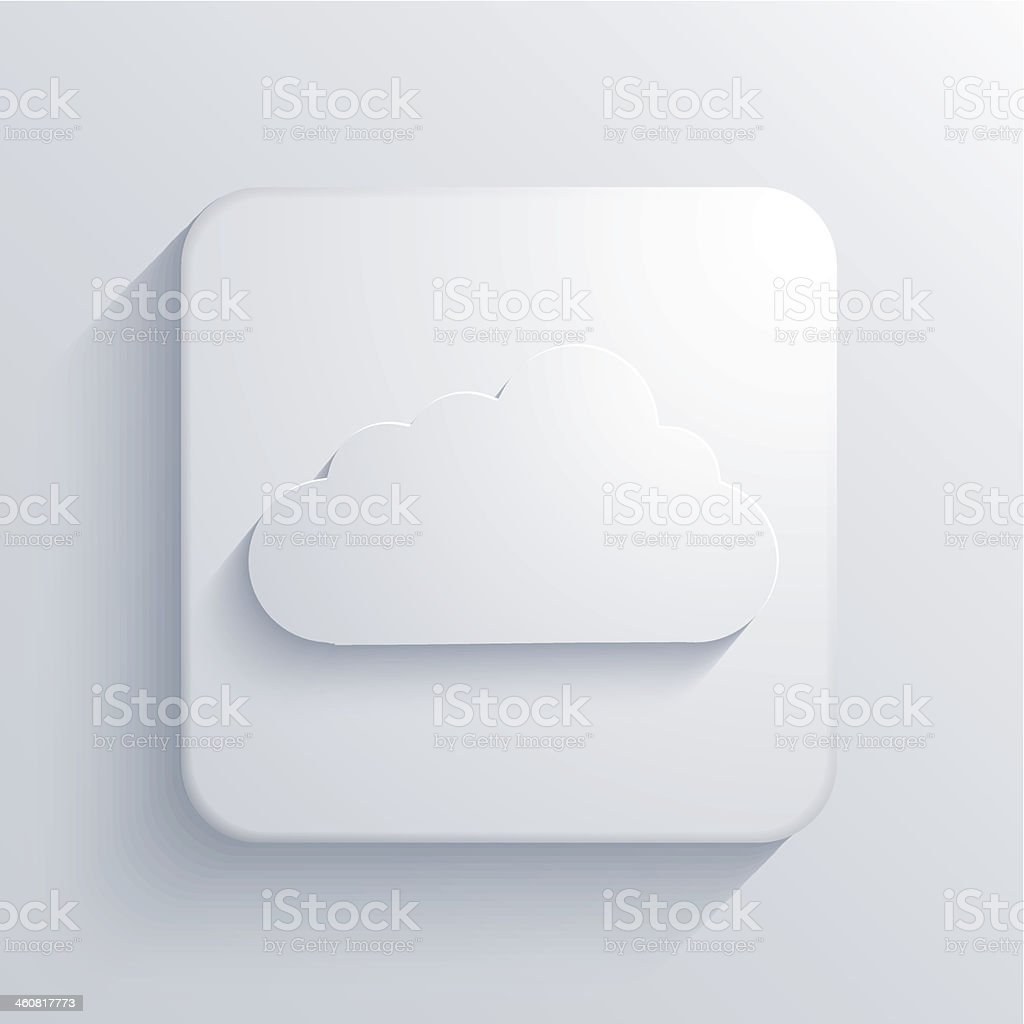 Vector light square icon. Eps10 royalty-free stock vector art