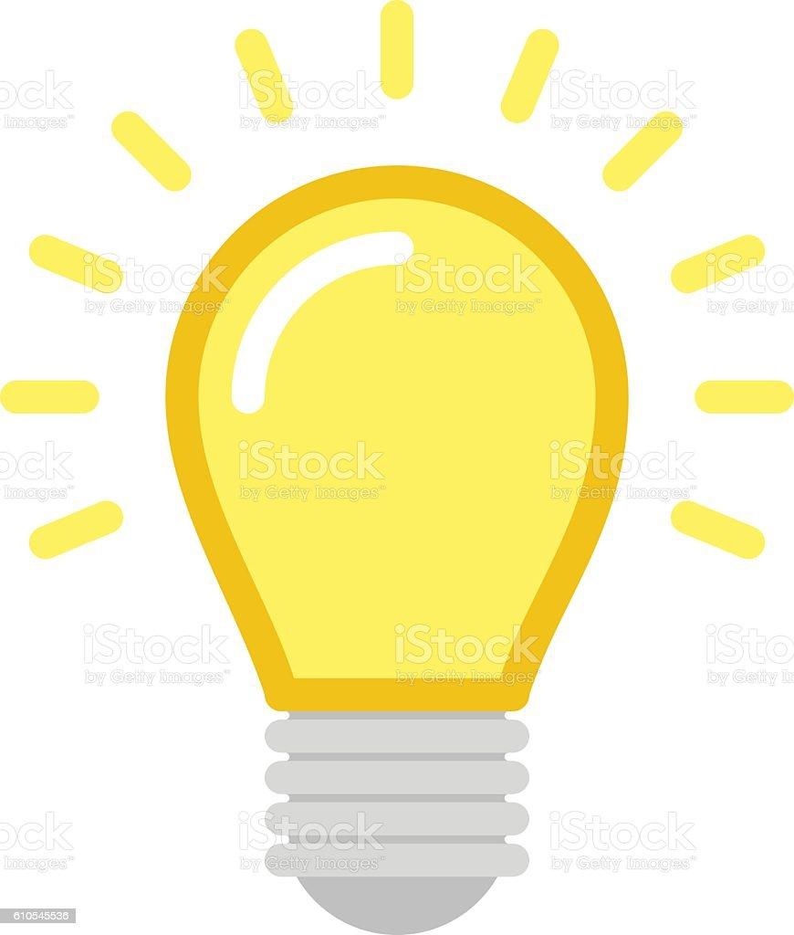Vector lightbulb icon. vector art illustration