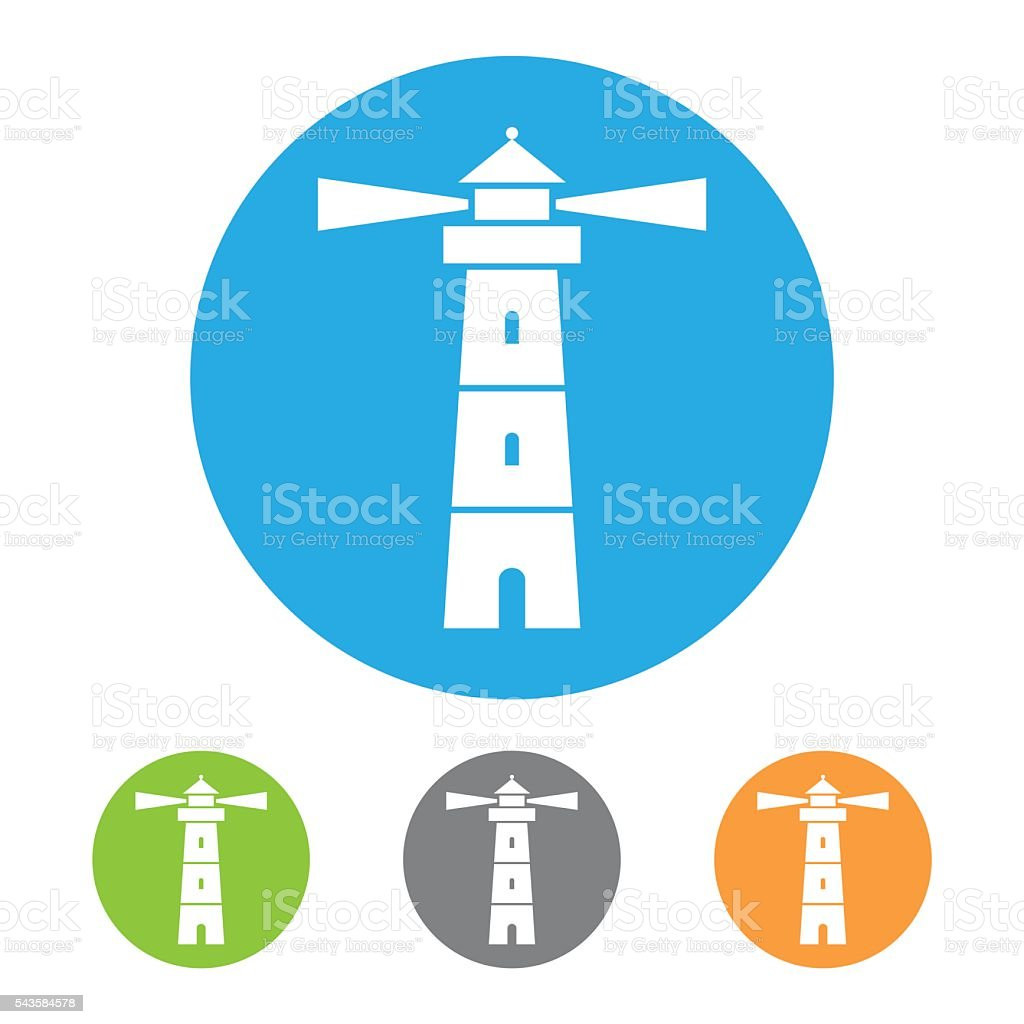 Vector lighthouse icon vector art illustration