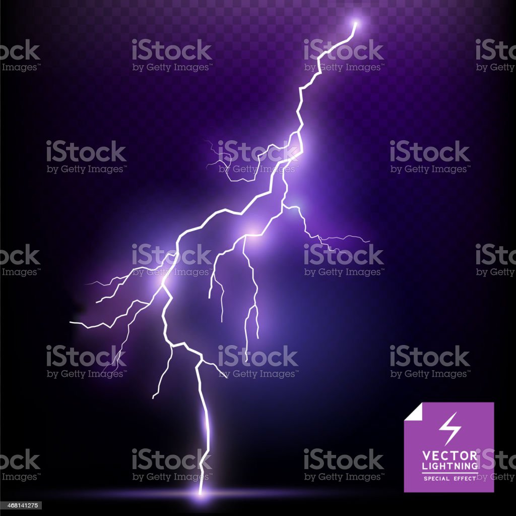 Vector Lightning special effect vector art illustration