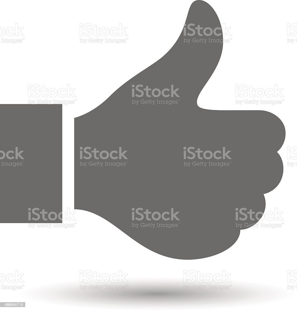 Vector like, thumb up icon vector art illustration