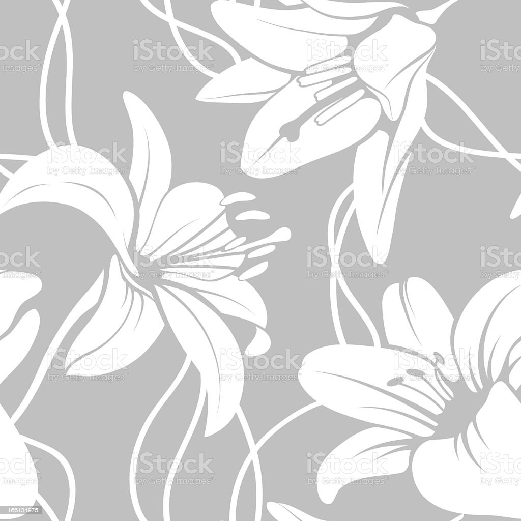Vector lilly seamless pattern royalty-free stock vector art