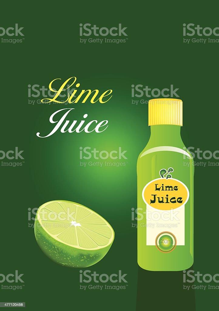 vector lime juice packaging vector art illustration