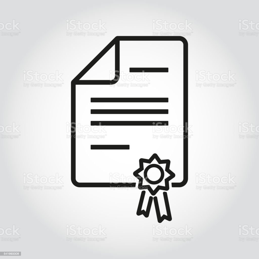 Vector line patent icon vector art illustration