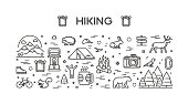 Vector line web concept for hiking