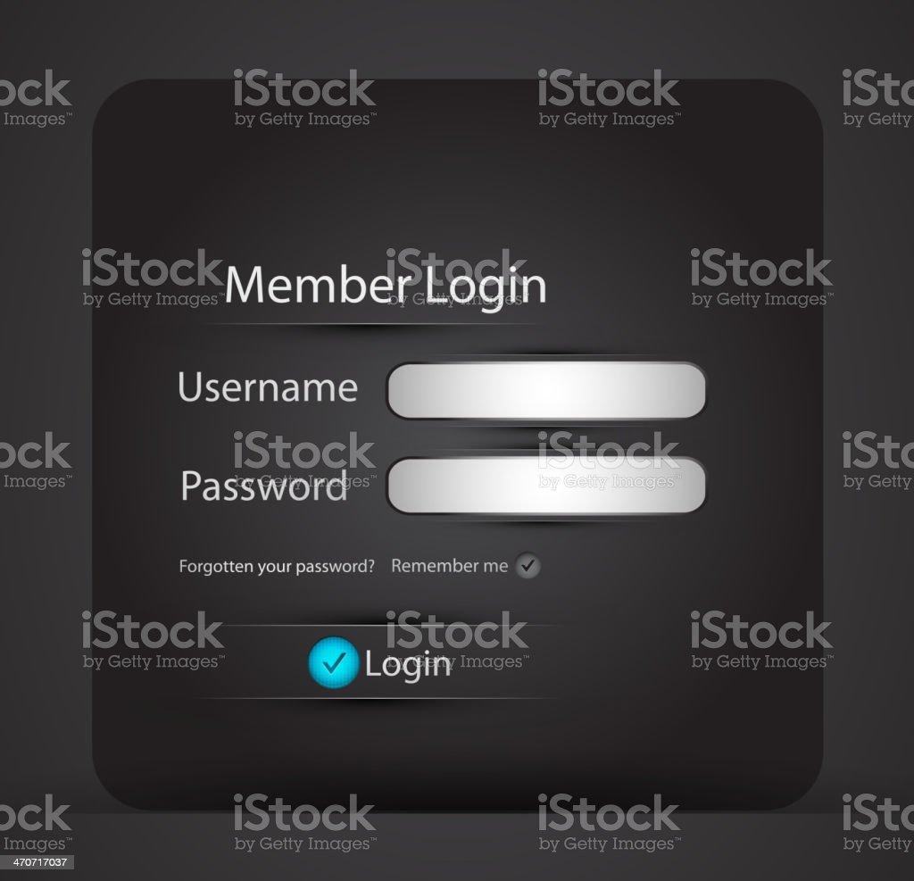 Vector login page royalty-free stock vector art
