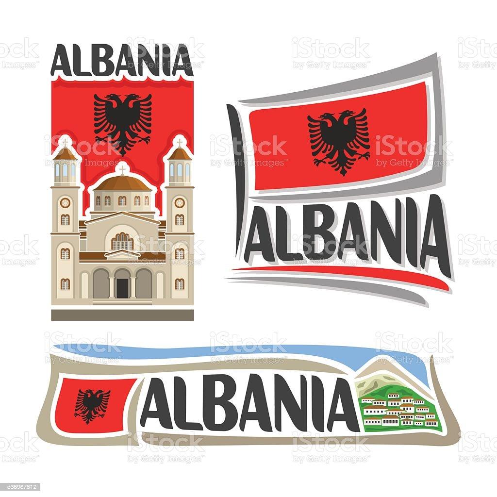 Vector logo Albania vector art illustration