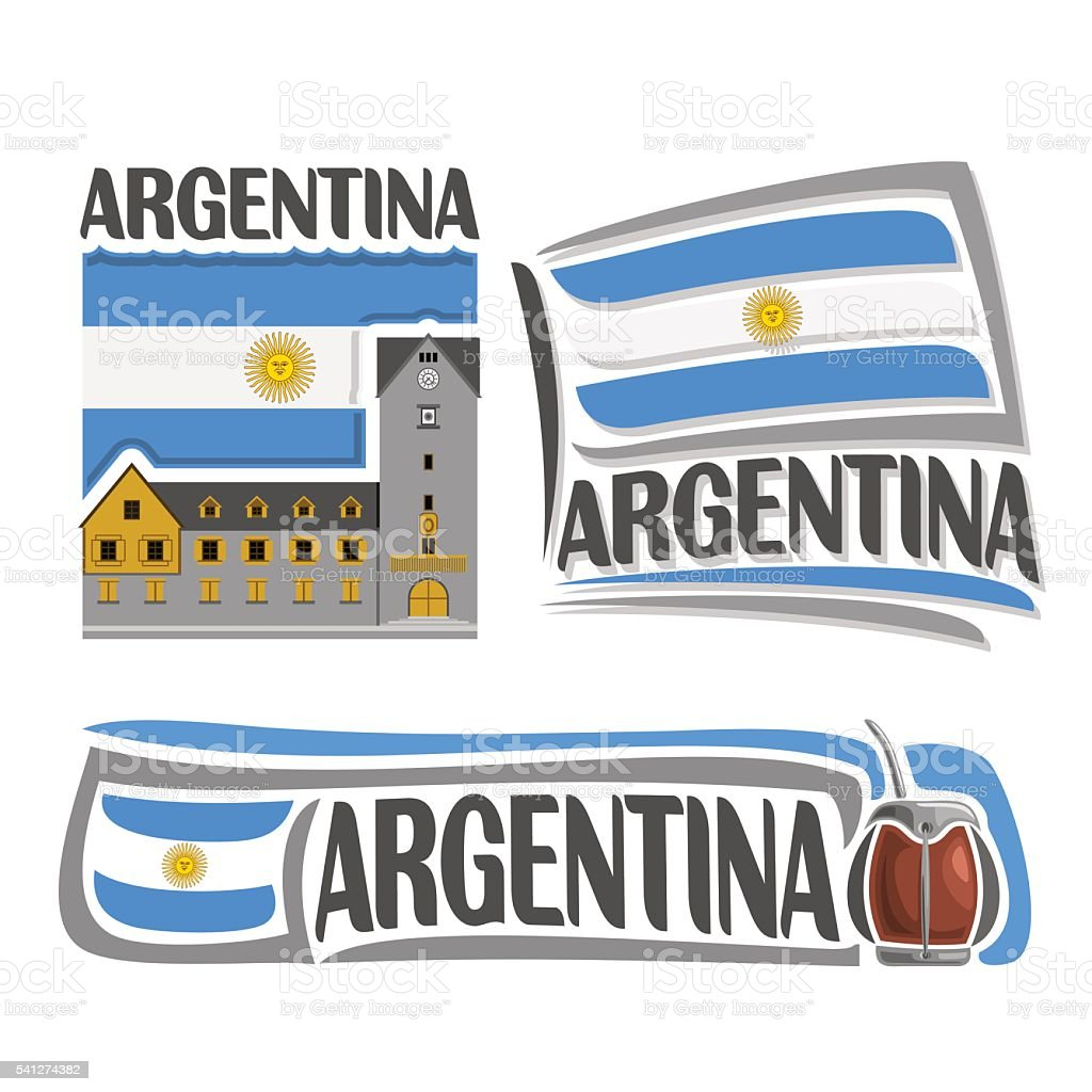 Vector logo Argentina vector art illustration
