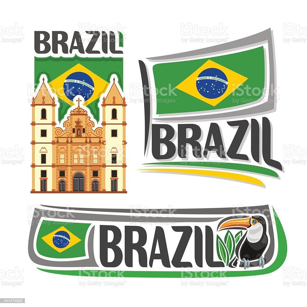 Vector logo Brazil vector art illustration