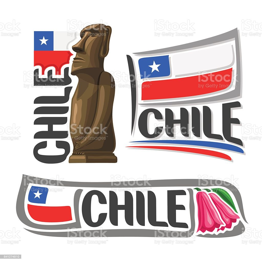 Vector logo Chile vector art illustration