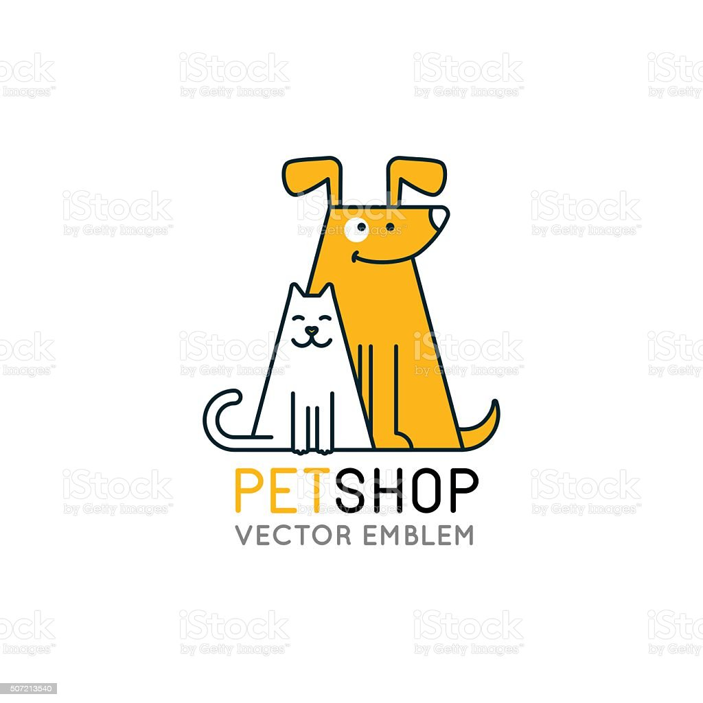 Vector logo design template for pet shops vector art illustration