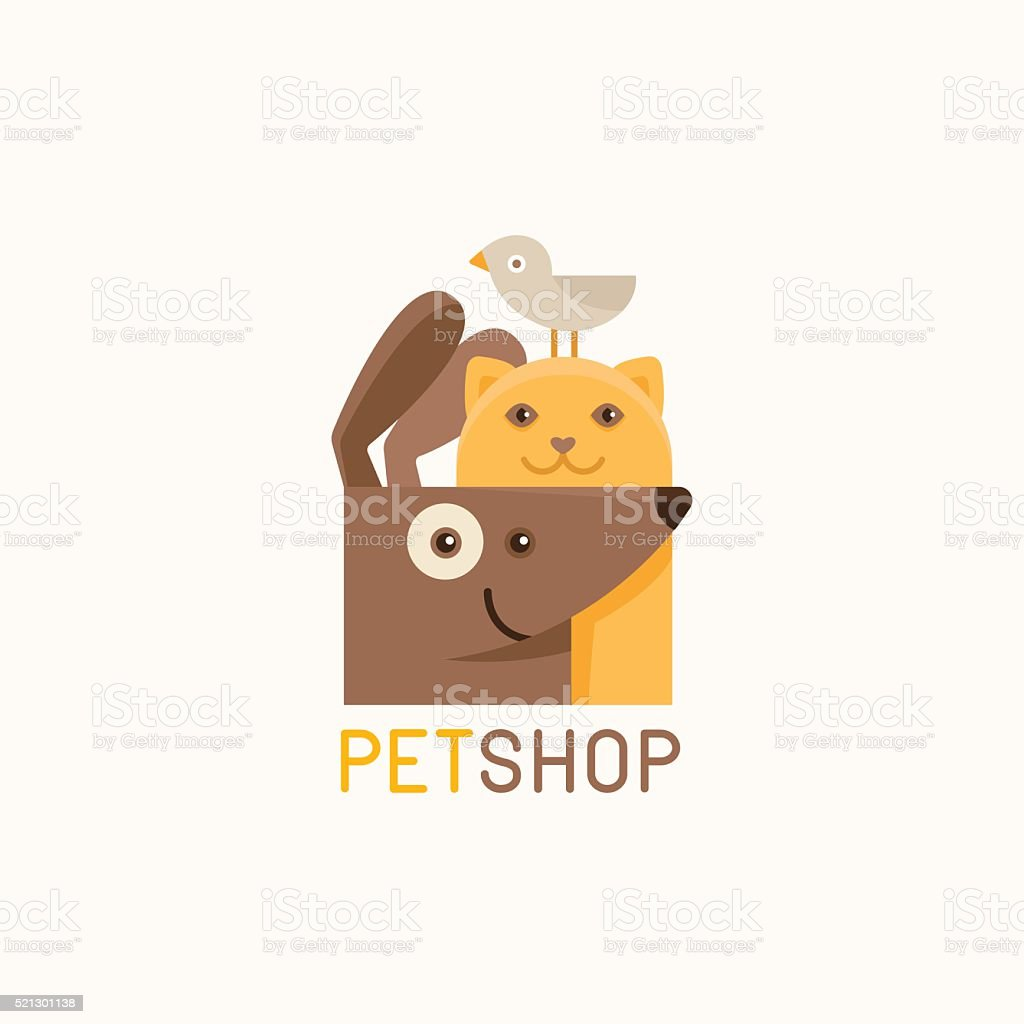 Vector logo design template for pet shops vector art illustration