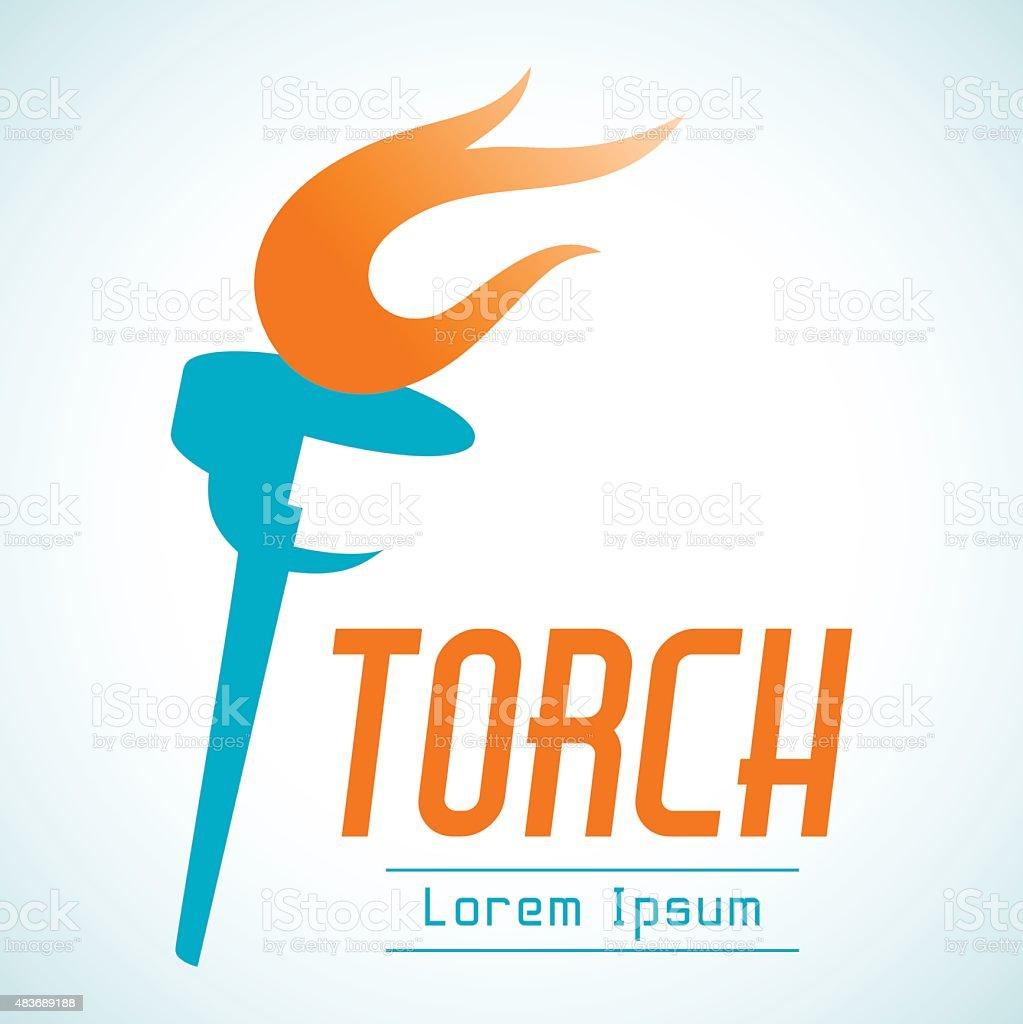 Vector logo design template of a torch vector art illustration