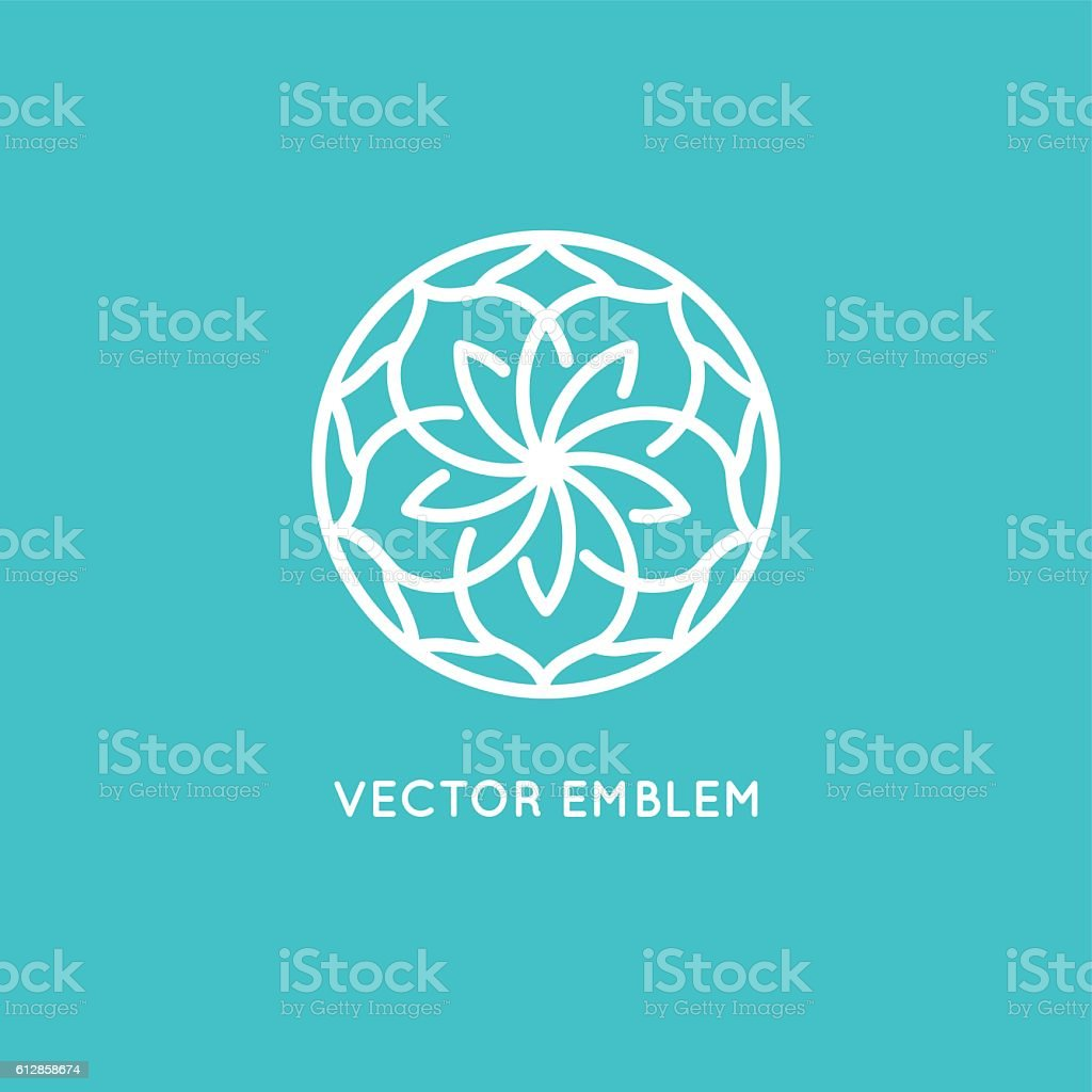Vector logo design template - rose flower vector art illustration