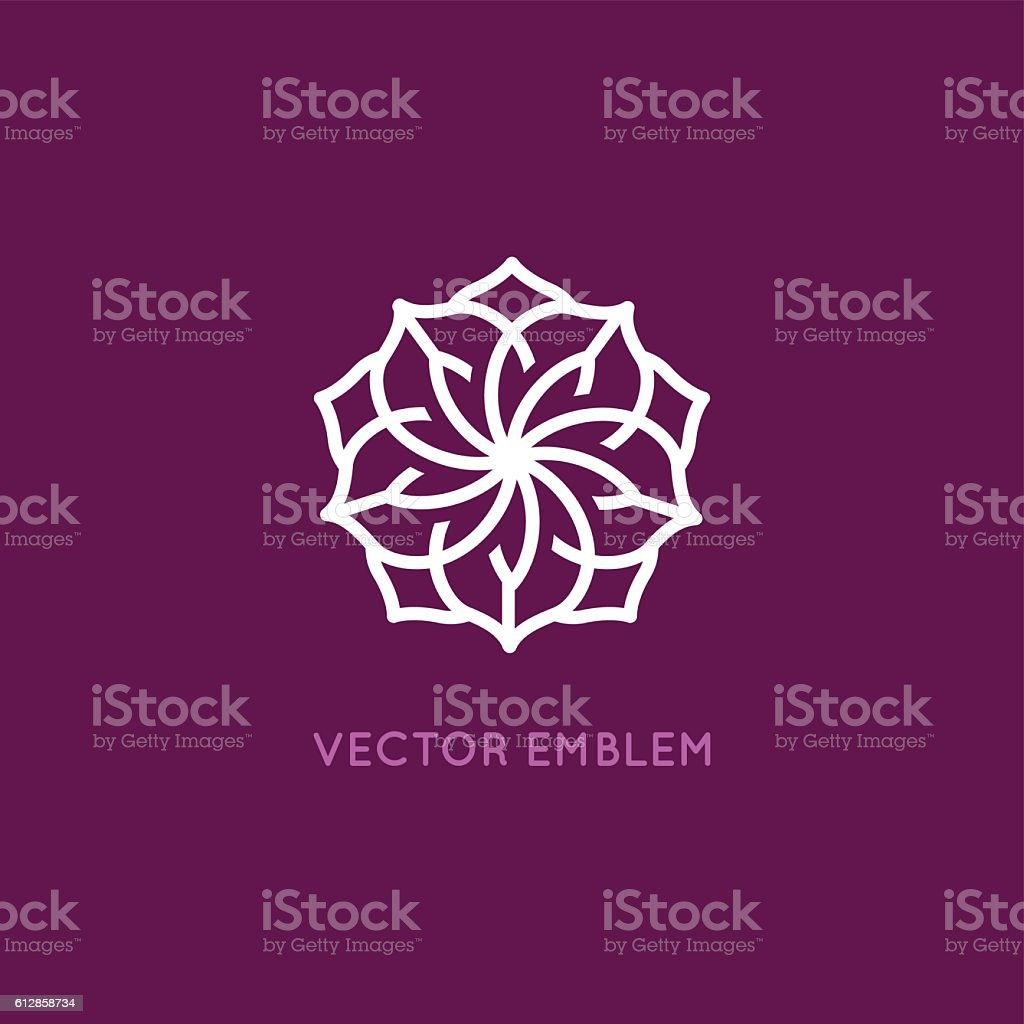 Vector logo design template - rose flower vector art illustration