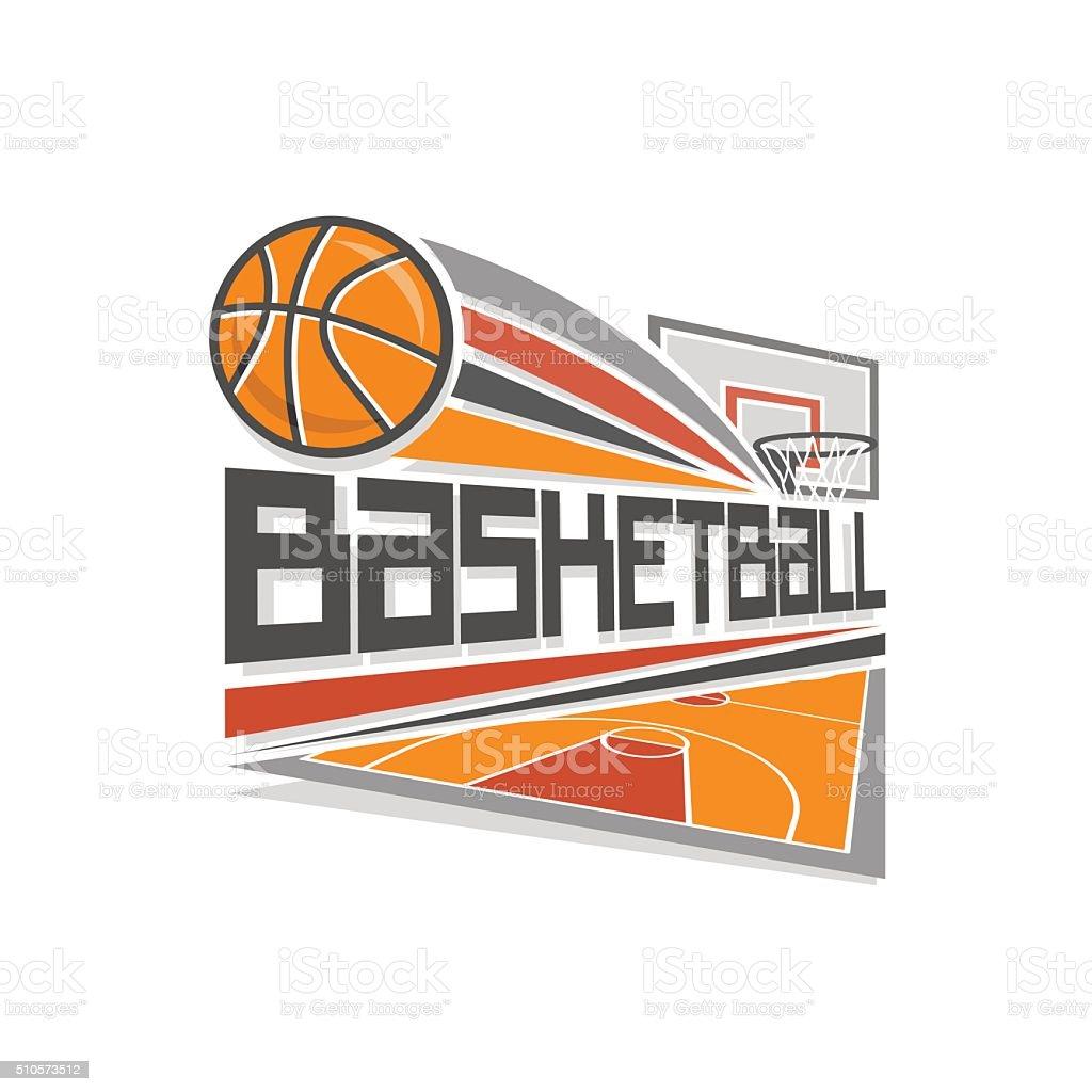 Vector logo for basketball sport vector art illustration