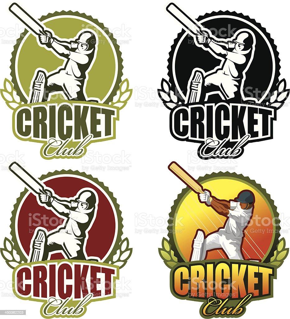 Vector logo for cricket club vector art illustration