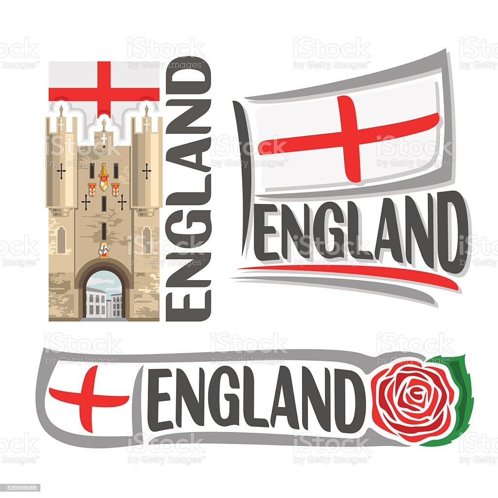 Vector logo for England vector art illustration