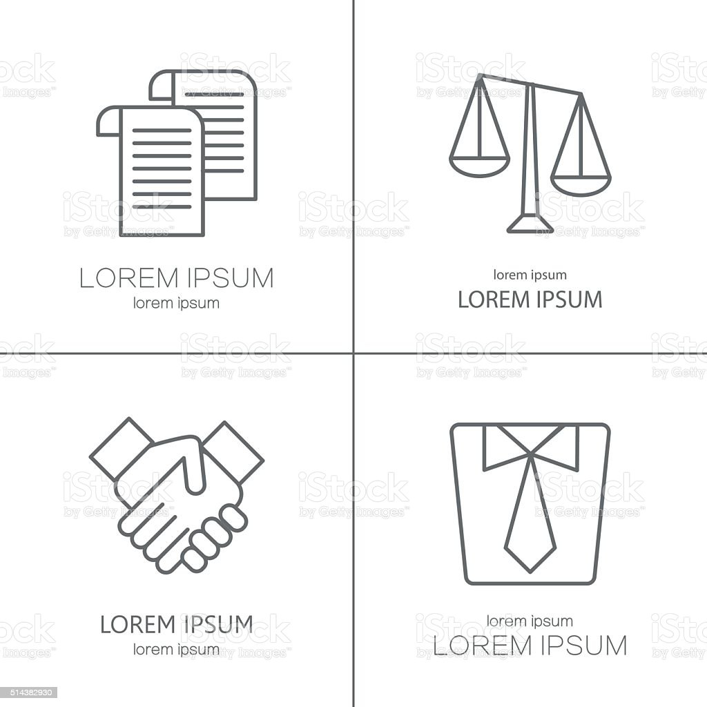 Vector logo for law firm, juristical company vector art illustration
