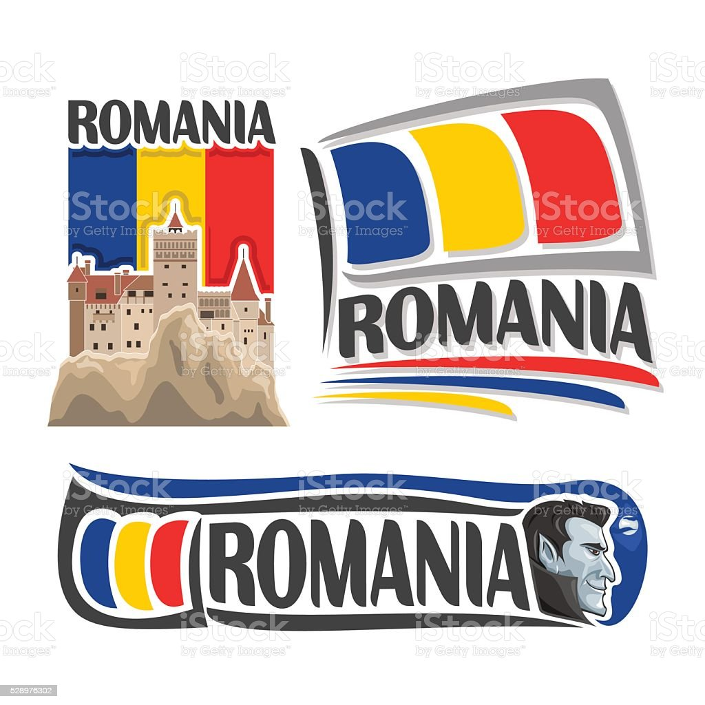 Vector logo for Romania vector art illustration