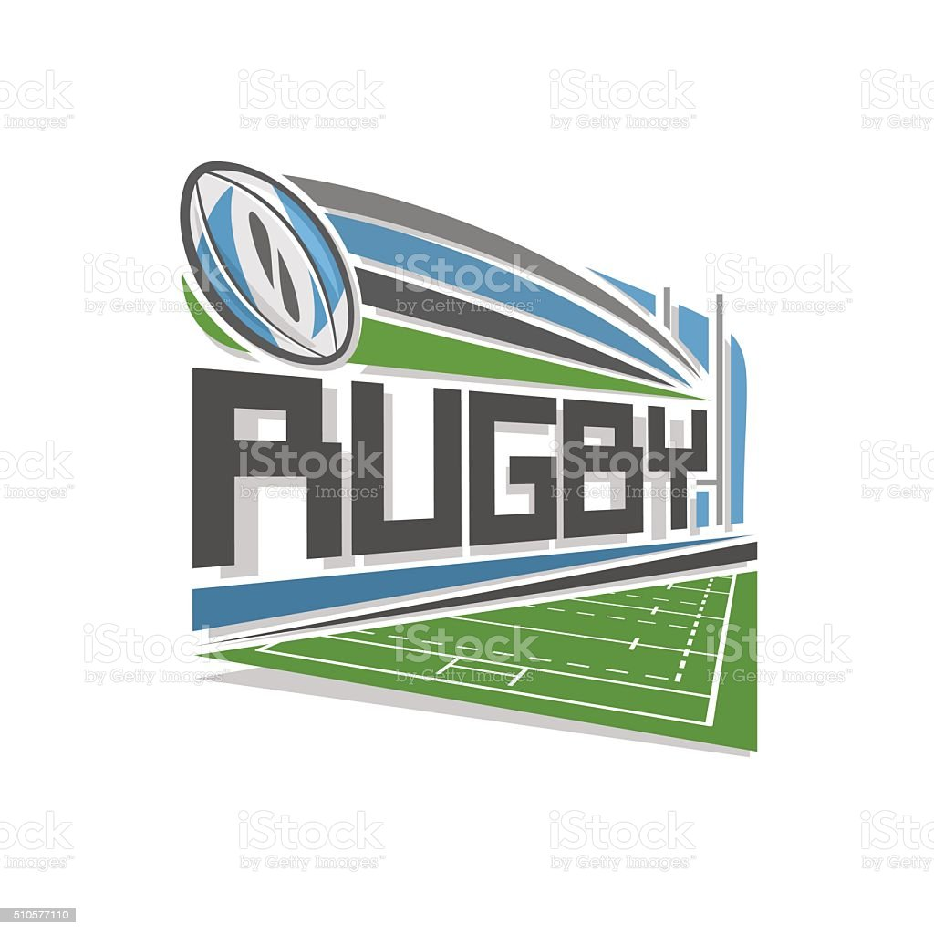 Vector logo for rugby sport vector art illustration
