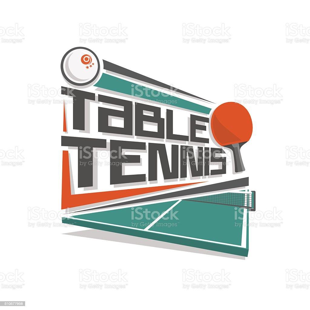 Vector logo for table tennis sport vector art illustration