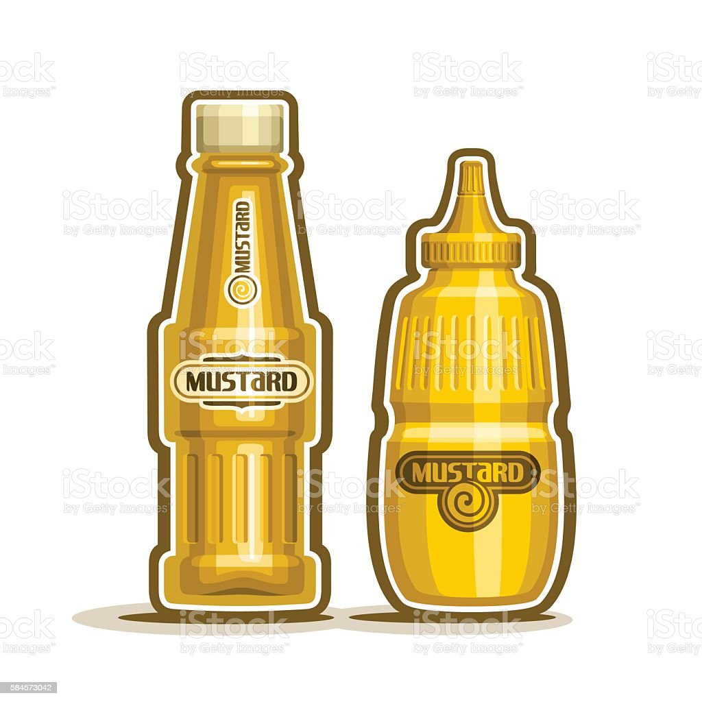 Vector logo mustard jar vector art illustration
