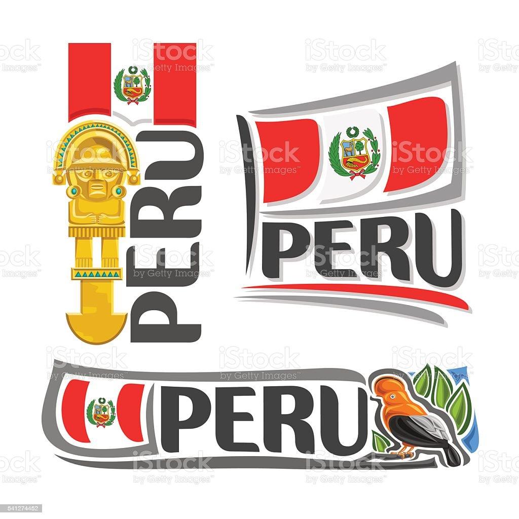 Vector logo Peru vector art illustration