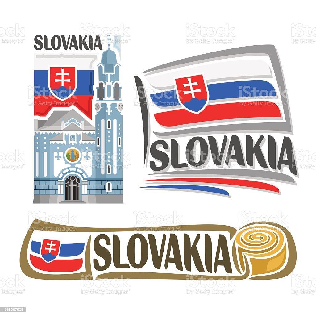 Vector logo Slovakia vector art illustration