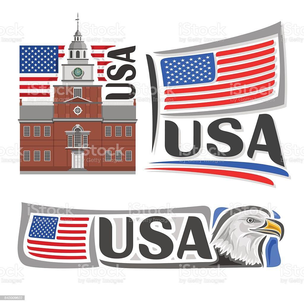 Vector logo USA vector art illustration