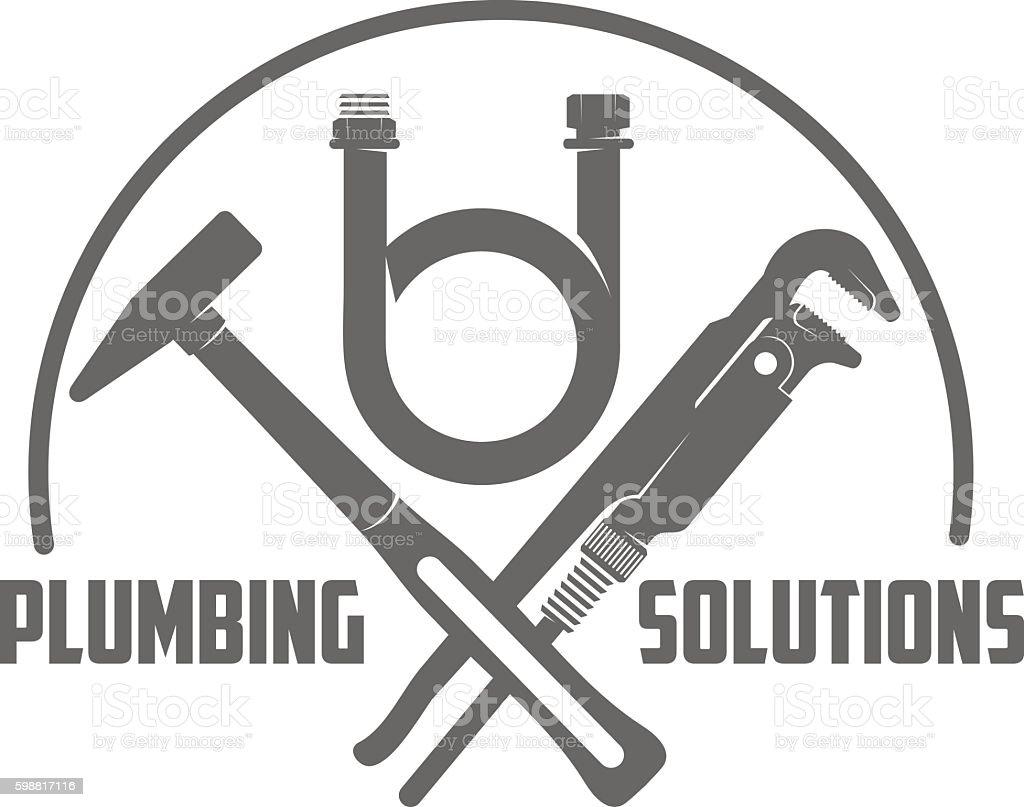 vector logo water, gas engineering, plumbing service vector art illustration