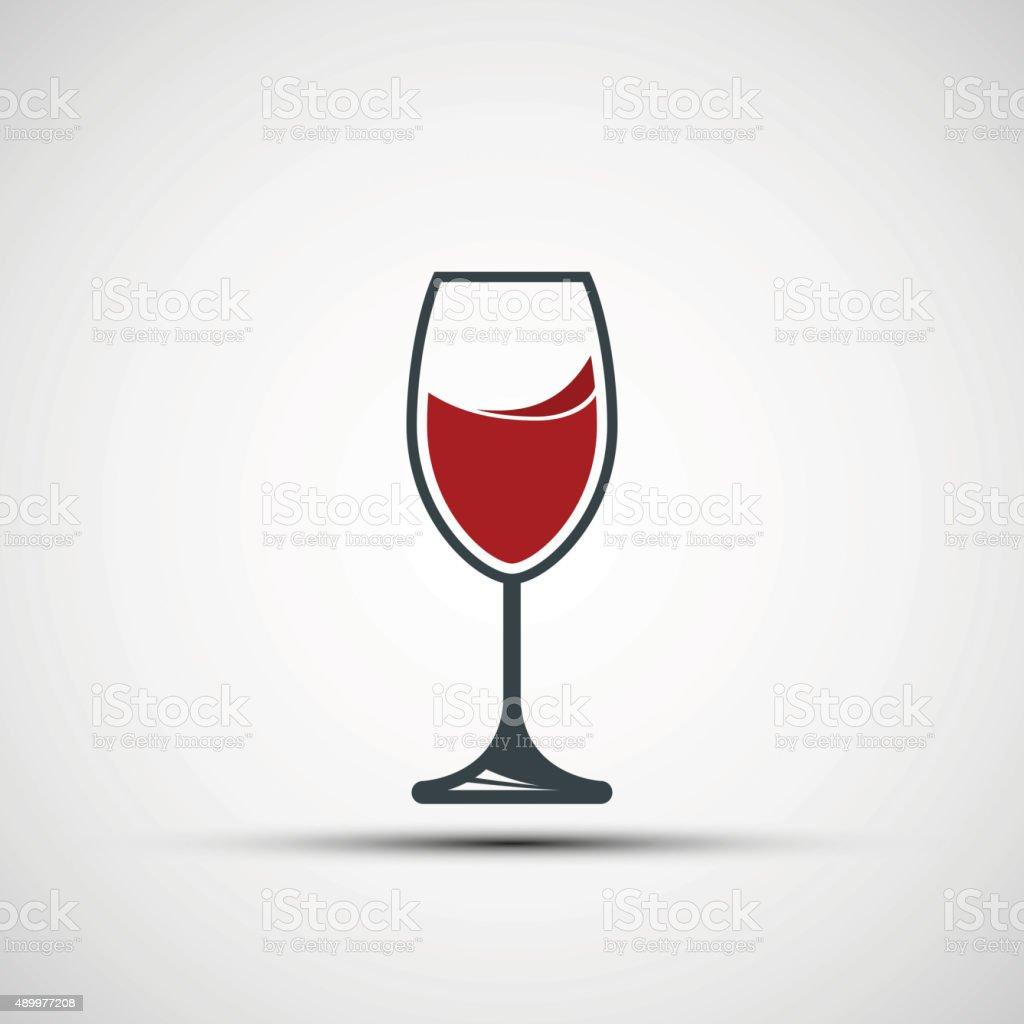 Vector logo wineglass vector art illustration