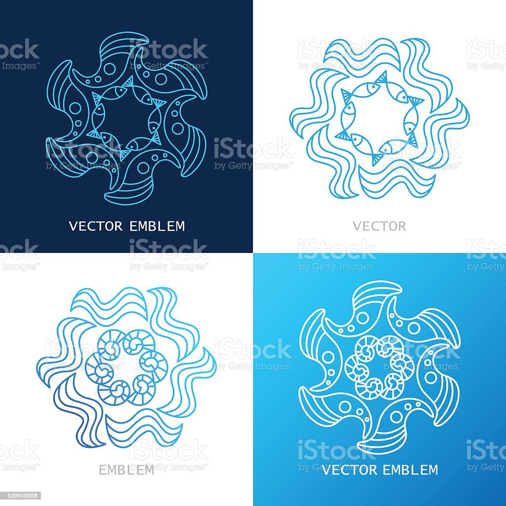 vector logos sea royalty-free stock vector art