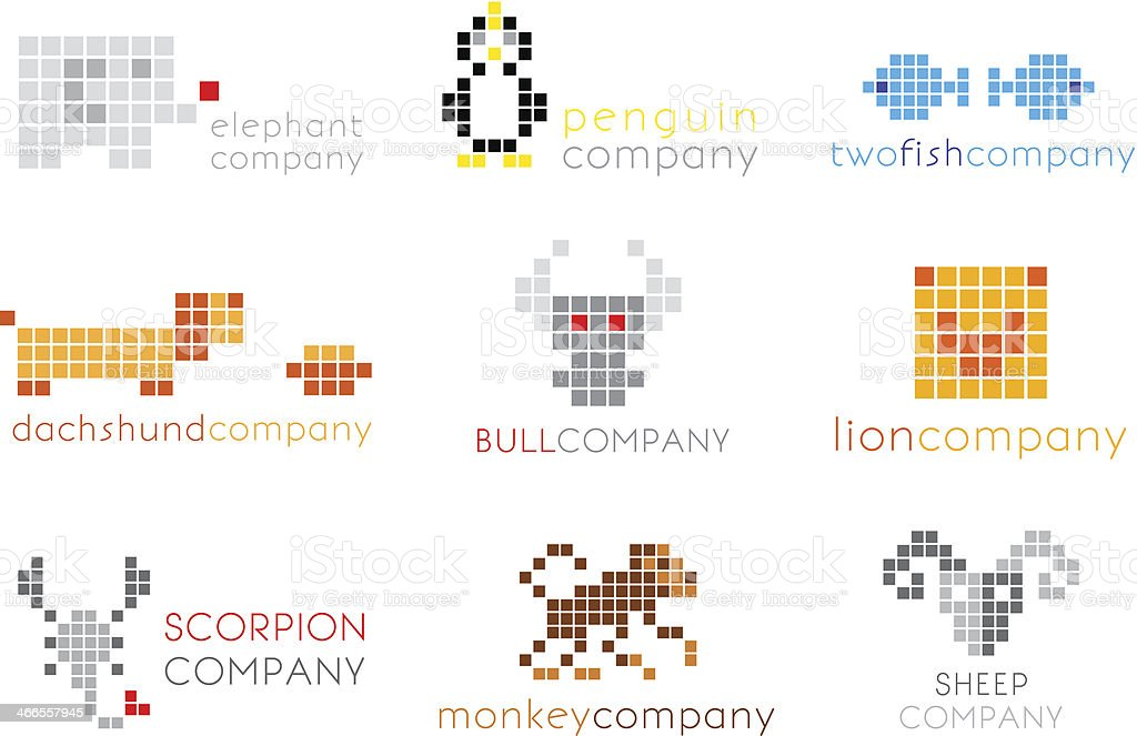 Vector logos with animals royalty-free stock vector art