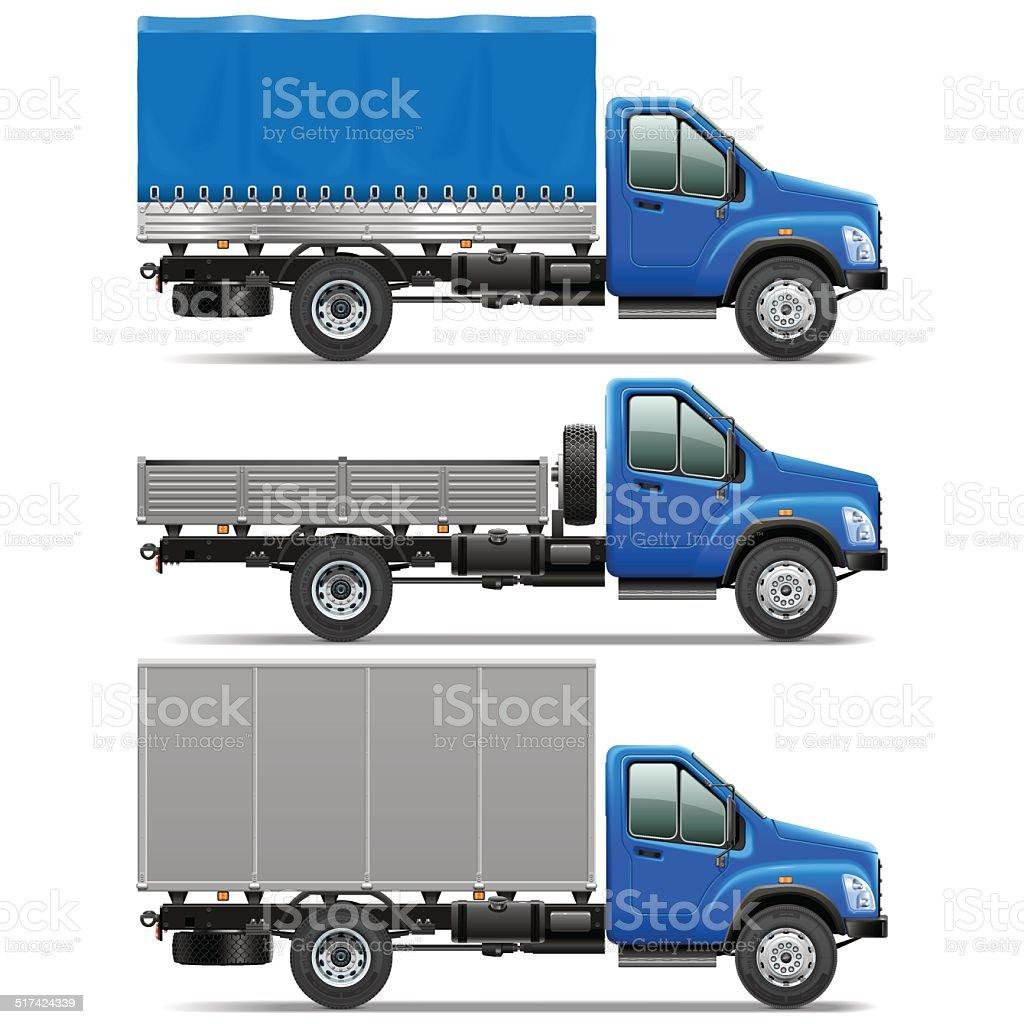 Vector Lorry Icons Set 1 vector art illustration