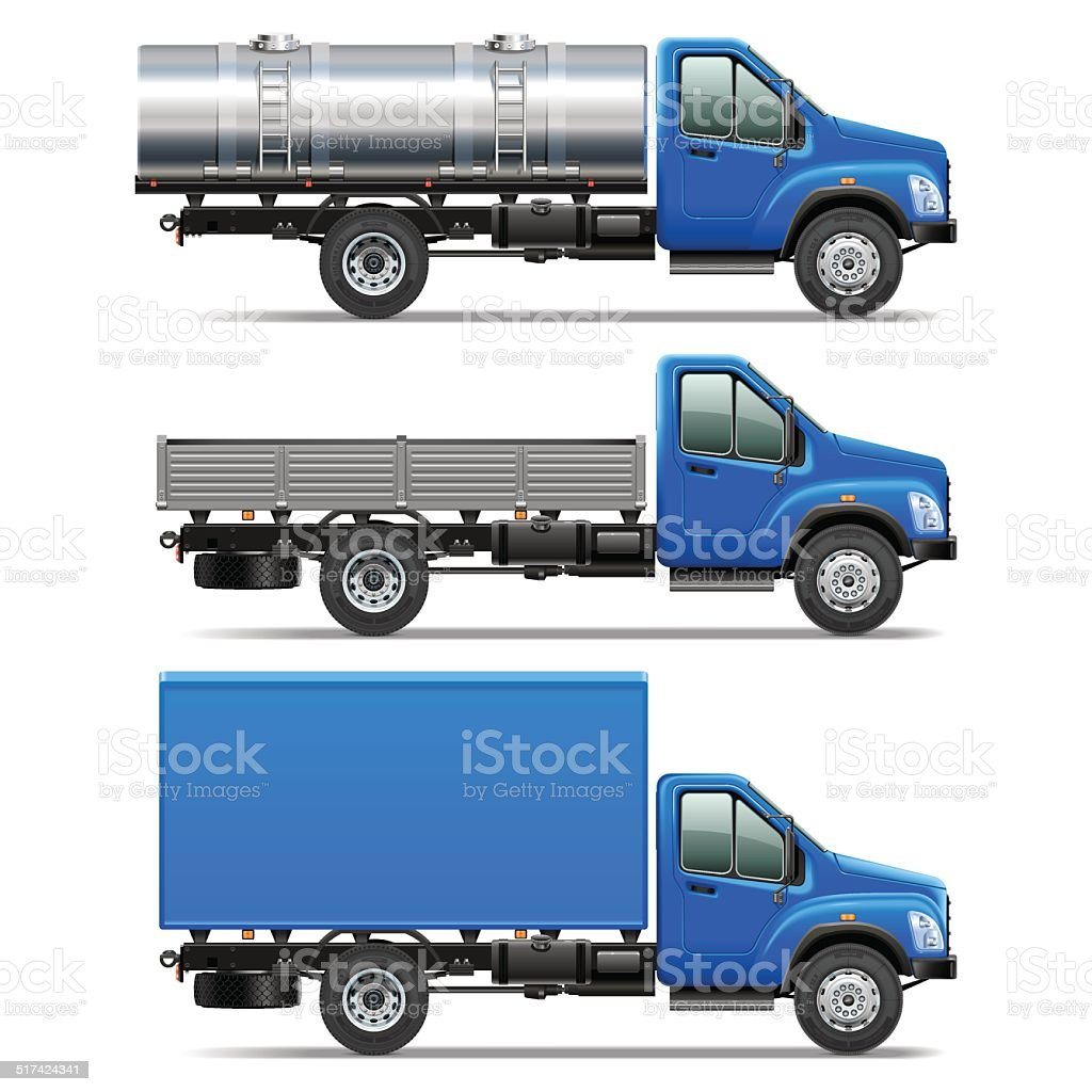 Vector Lorry Icons Set 2 vector art illustration