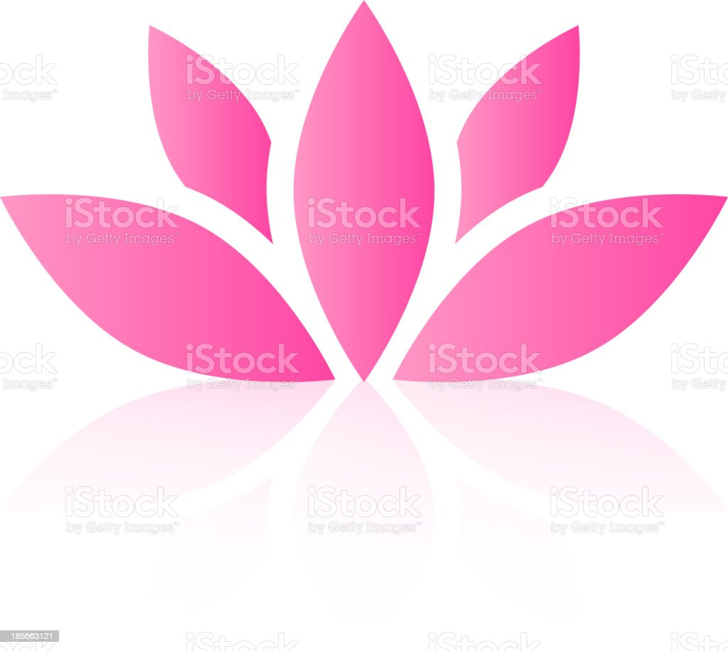 Vector lotus flower royalty-free stock vector art