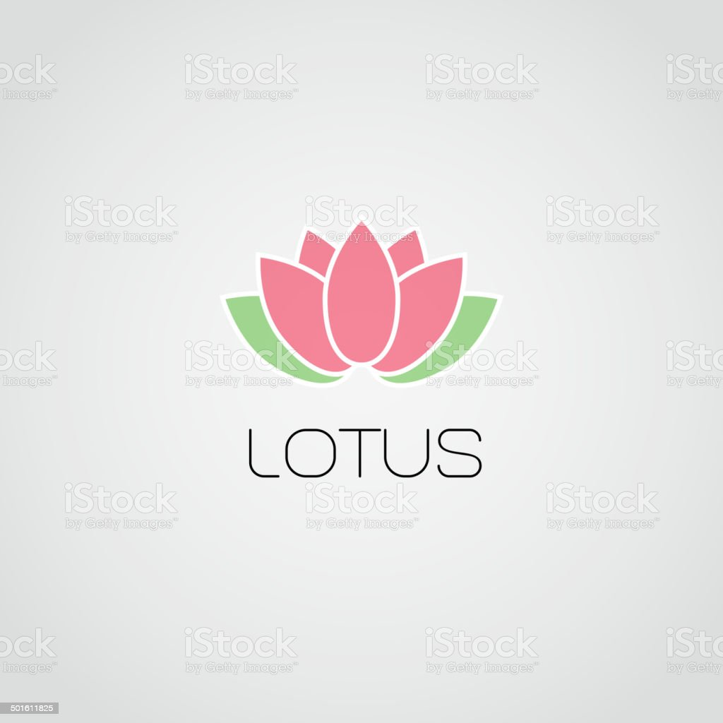 Vector lotus flowers design for spa,  yoga class, resort vector art illustration