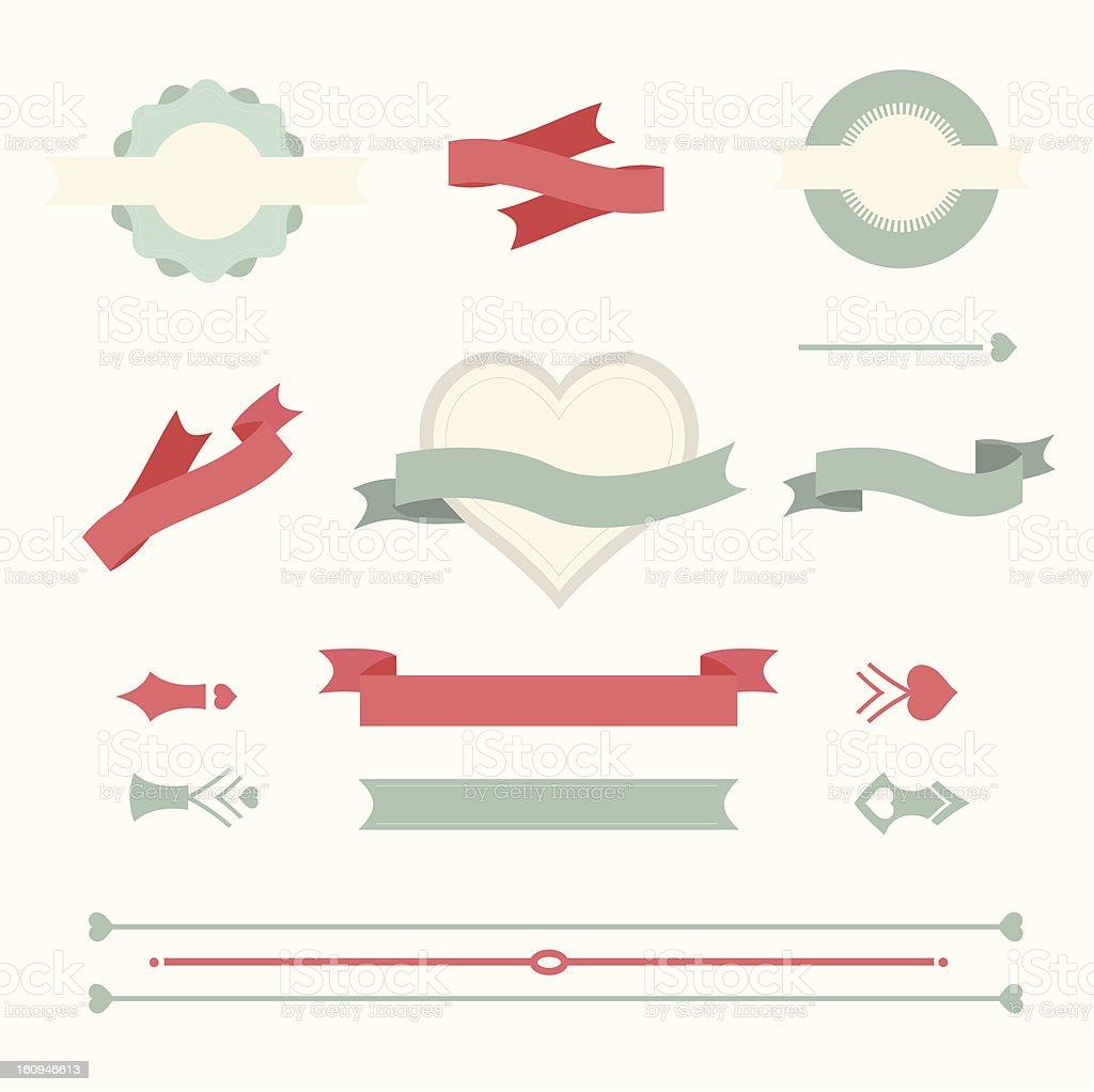 Vector Love Design Element royalty-free stock photo